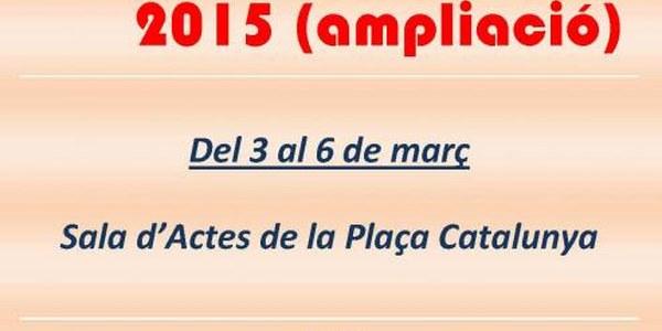 2015 - JORNADES CULTURALS (ampliació)