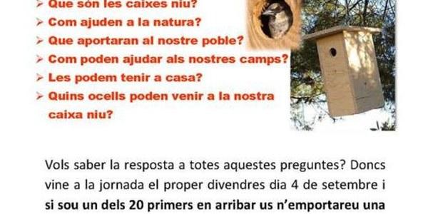 JORNADA CAIXES NIU - DIVENDRES 4 DE SETEMBRE