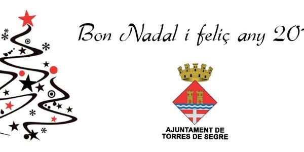 L'AJUNTAMENT US DESITJA BON NADAL I FELIÇ ENTRADA AL 2016