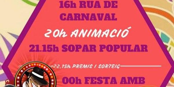 DISSBTE 20 DE FEBRER - CARNAVAL DE TORRES DE SEGRE INICI RUA A LES 16H VORA EL PAVELLÓ MUNICIPAL