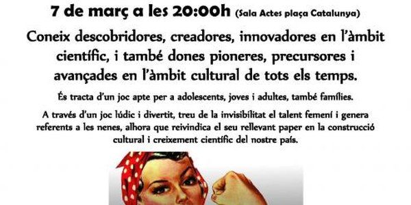 Bingo Coeducatiu - Dia Internacional de les Dones.
